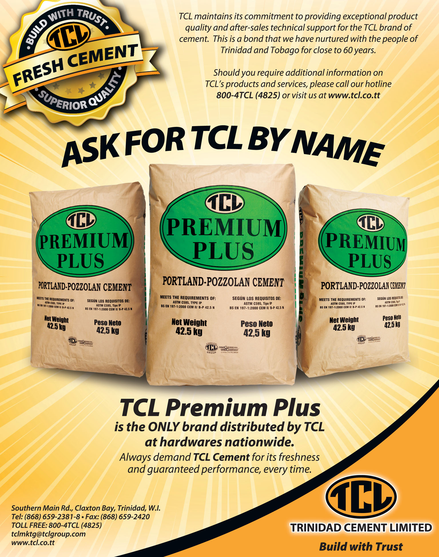 TCL Ask for TCL by Name Press Ad